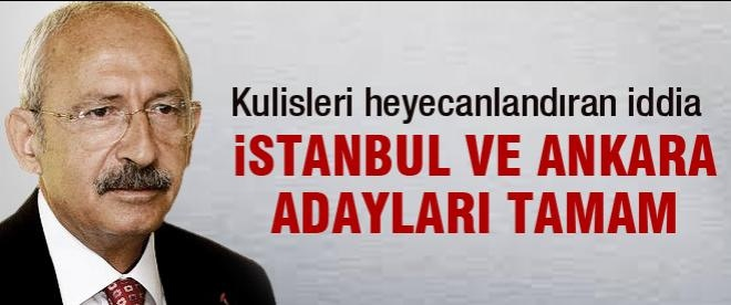 CHP'nin İstanbul Ankara adayları belli oldu iddiası