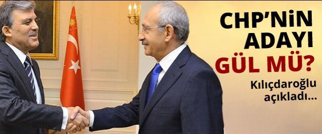 Kılıçdaroğlu açıkladı: CHP'nin adayı Gül mü olacak?