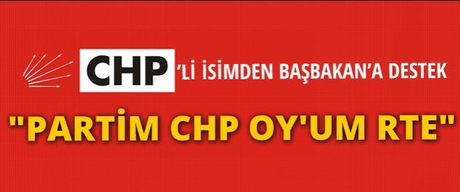 CHP'li isimden Erdoğan'a destek