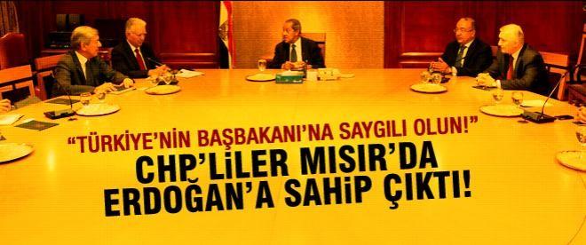 CHP'liler Mısır'da Erdoğan'a sahip çıktı!
