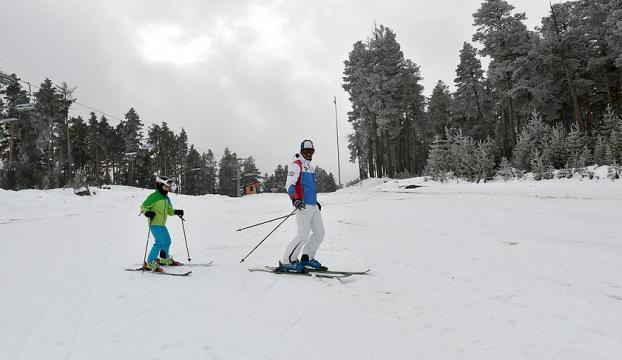 Cıbıltepede sezonun ilk kayağı