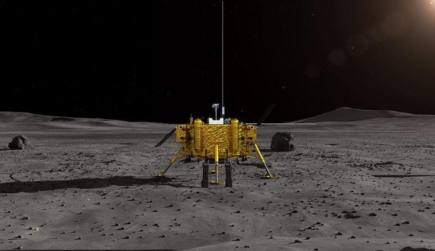 Çinin keşif aracı Ayın karanlık yüzüne indi