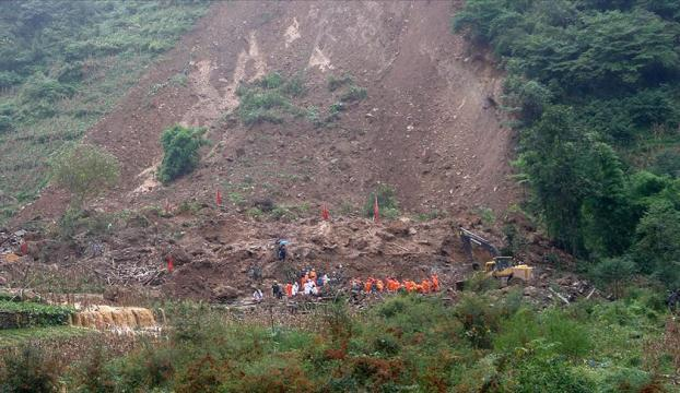 Çindeki heyelanda ölü sayısı 42ye yükseldi