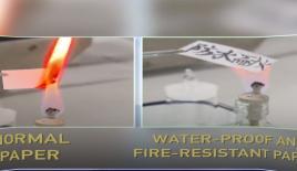 Çin'de suya ve ateşe dayanıklı kağıt üretildi