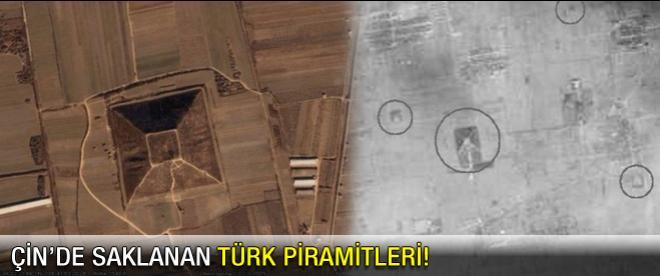 Çin'de saklanan Türk piramitlerinin görüntüleri