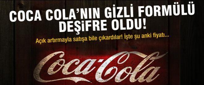 Coca Cola'nın gizli formülü deşifre mi oldu?