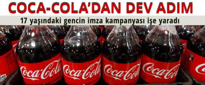 Coca-Cola tartışmalı katkı maddesini içeceklerden çıkartıyor