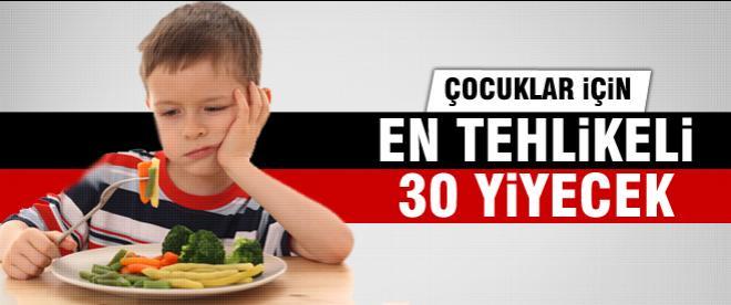 Çocuklar için en teklikeli 30 yiyecek