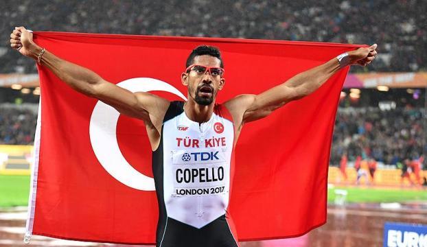 Milli sporcu Copello 400 metre engellide gümüş madalya kazandı