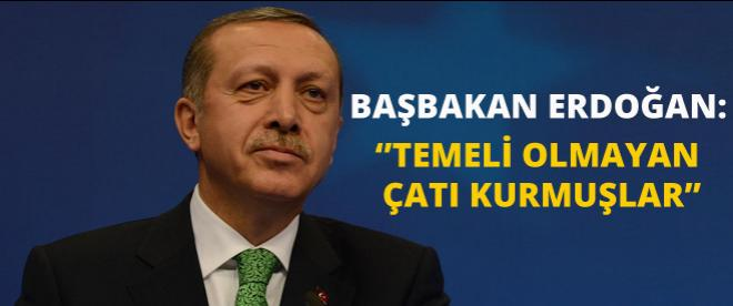 Başbakan Erdoğan'ın ilginç 'çatı' yorumu!