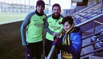Bosna Hersekli çocuğun Barcelona hayali gerçek oldu