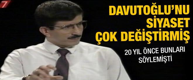 Ahmet Davutoğlu'nun 20 yıl önceki görüntüsü