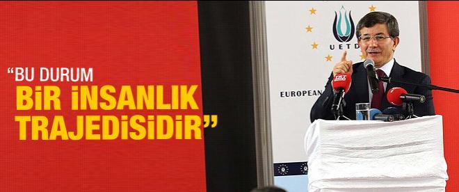 Davutoğlu'ndan Uluslararası toplumu harekete davet
