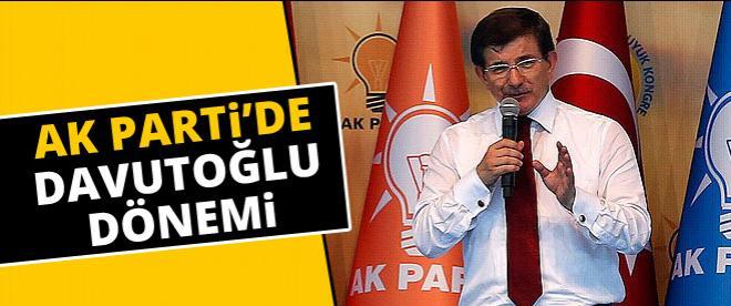 Ak Parti'nin yeni genel başkanı; Davutoğlu