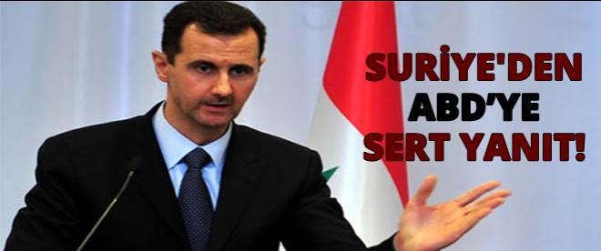 Suriye'den ABD'ye sert yanıt!