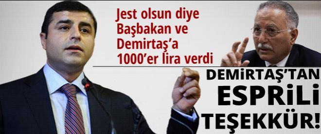 İhsanoğlu'nun jestine Demirtaş'tan esprili yanıt!