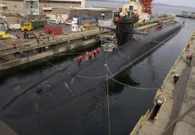 ABD, Güney Kore'ye dünyanın en büyük denizaltısını gönderdi!