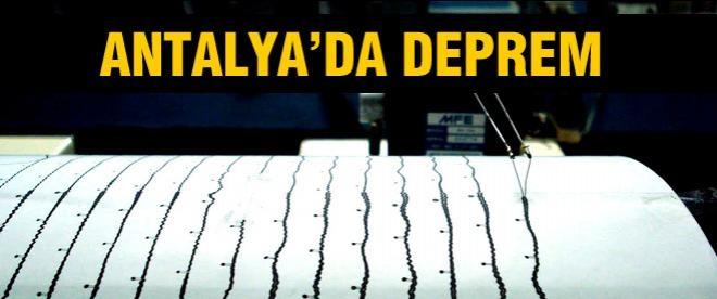 Antalya depremle sarsıldı