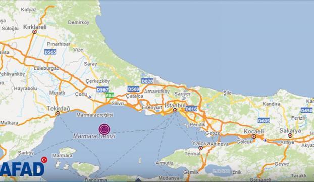 Marmara Denizinde 4,2 büyüklüğünde deprem