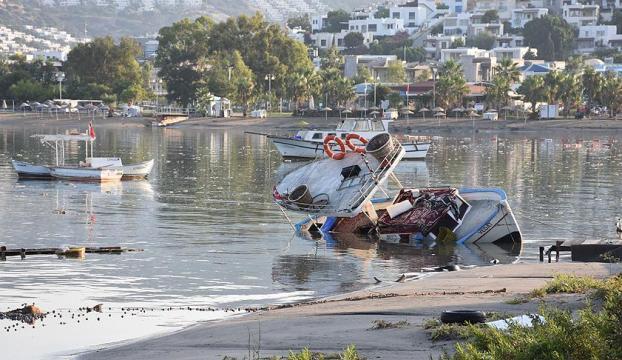 Deprem sonrası Bodrumda 10 santimetre tsunami oluştu