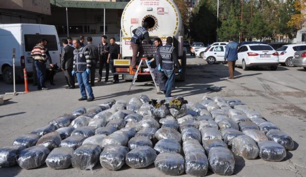 LPG tankerinden 500 kilogram esrar çıktı