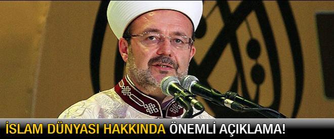 Mehmet Görmez: Dindarlıklarımız içtenliğini kaybediyor