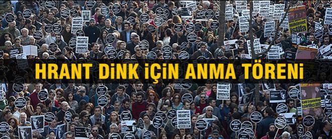 Hrant Dink için anma töreni
