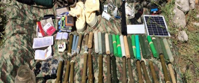 PKKlı teröristlerce kullanılan sığınakta ilk yardım malzemeleri ele geçirildi