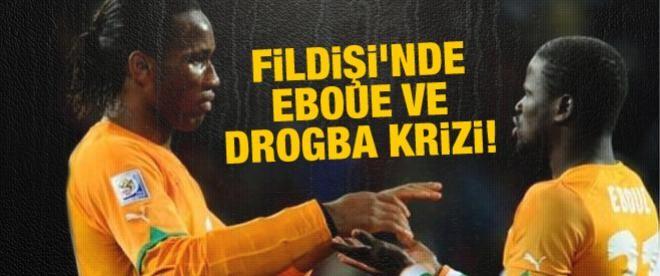 Fildişi'nde Eboue ve Drogba krizi!