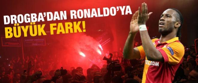 Drogba'dan Ronaldo'ya büyük fark!