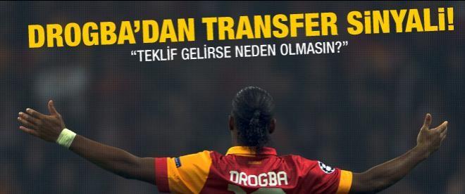"""Drogba'dan transfer açıklaması: """"Neden olmasın"""""""