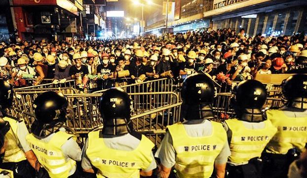 Hong Kongdaki gösterilerde 37 gözaltı
