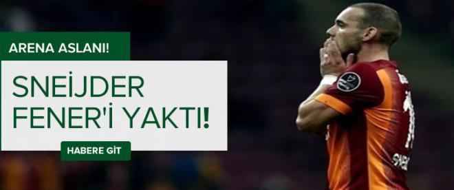 Sneijder Fener'i yaktı