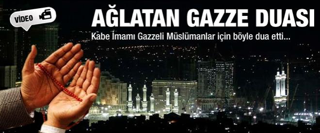 Kabe'de ağlatan Gazze Duası