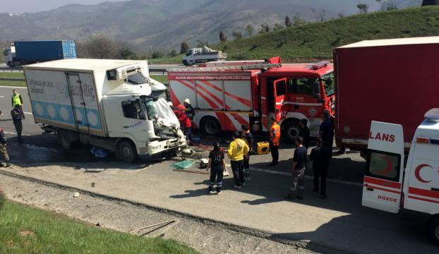 Düzcede trafik kazası: 1 ölü