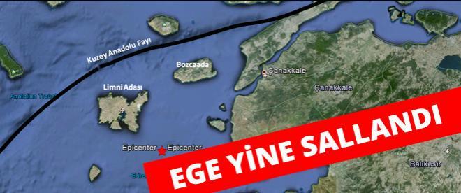 Saros körfezinde deprem oldu!