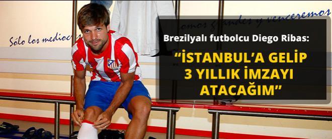 Diego Ribas resmen Fenerbahçe'de...