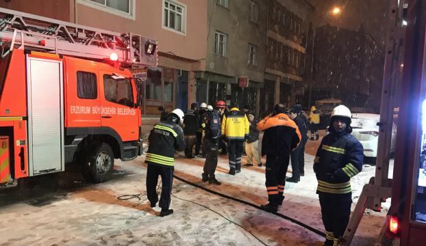 Erzurumda iş yeri yangını
