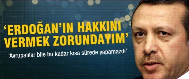 Sempozyumda Erdoğan'a övgü