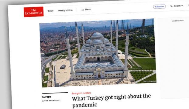 Economist dergisi Türkiyenin Kovid-19la mücadele stratejisini övdü