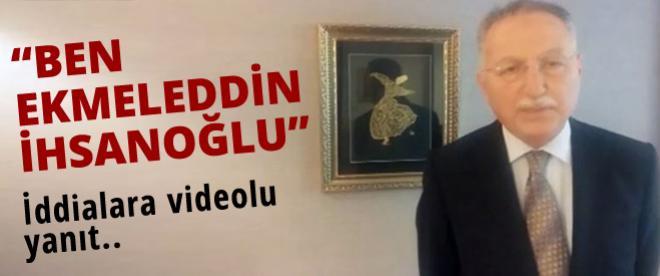 Ekmeleddin İhsanoğlu, Youtube'dan video yayınladı