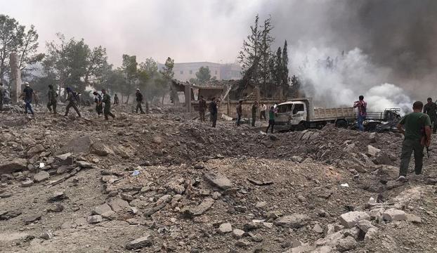 El Babın kuzeyinde ÖSO karargahına bombalı araçla saldırı