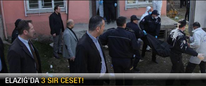 Elazığ'da 3 sır ceset!