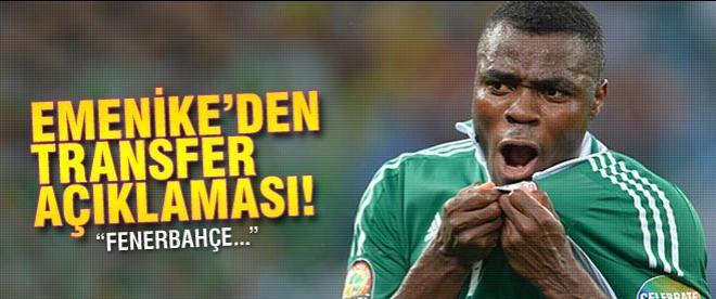 Emenike'den transfer açıklaması! Fenerbahçe...
