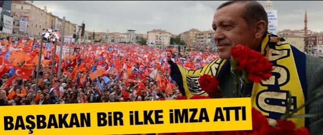 Erdoğan bir ilke imza attı!