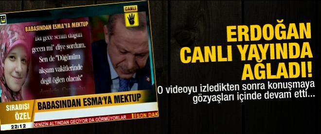 Erdoğan canlı yayında ağladı!