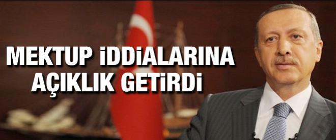 Başbakan Erdoğan'dan mektup açıklaması