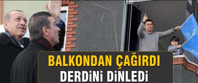 Başbakan Erdoğan vatandaşı yanına çağırdı