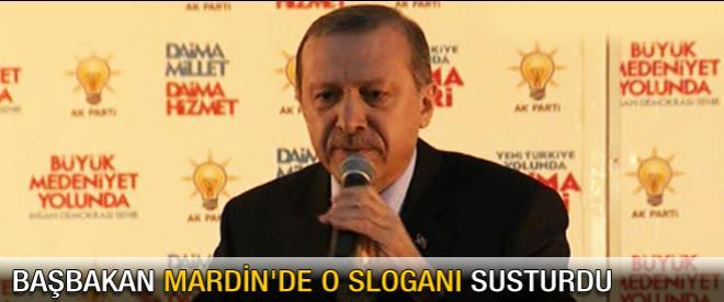 Başbakan Mardin'de o sloganı susturdu