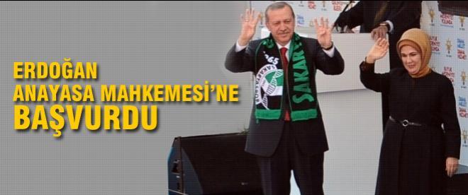 Erdoğan Anayasa Mahkemesi'ne başvurdu